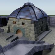 fantasy fortress 3d model