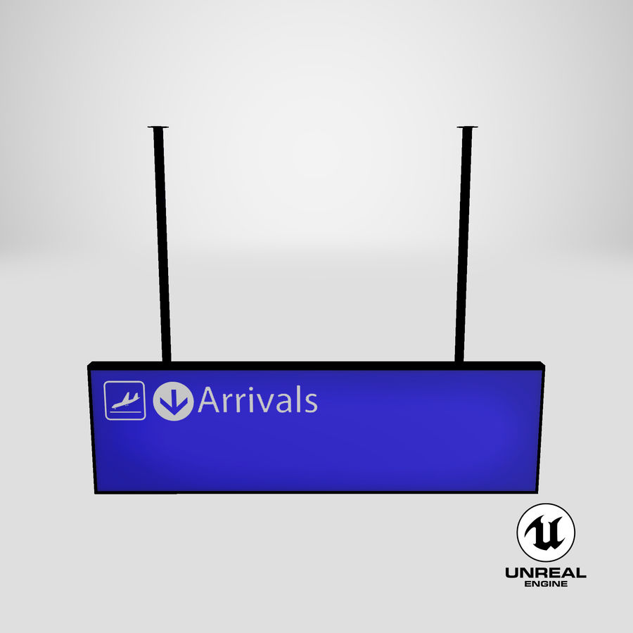 Luchthaven aankomst teken royalty-free 3d model - Preview no. 16