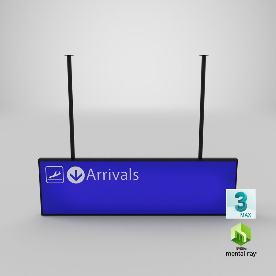 Luchthaven aankomst teken royalty-free 3d model - Preview no. 14