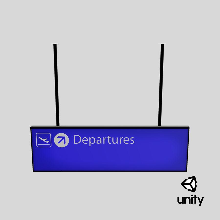 Luchthaven vertrek teken royalty-free 3d model - Preview no. 17