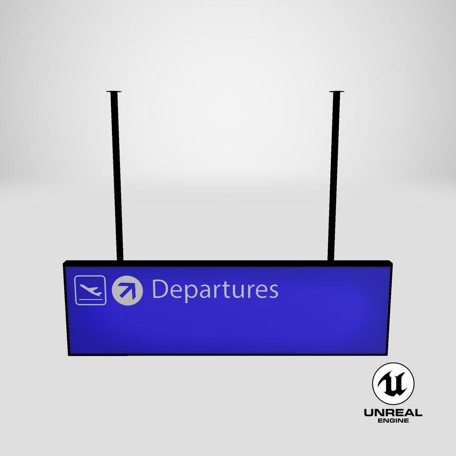 Luchthaven vertrek teken royalty-free 3d model - Preview no. 16