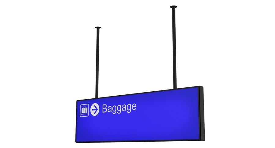 Luchthaven bagage teken royalty-free 3d model - Preview no. 5