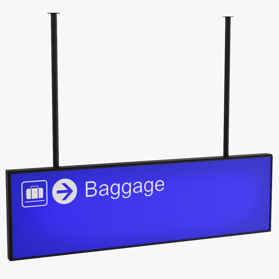 Luchthaven bagage teken royalty-free 3d model - Preview no. 1