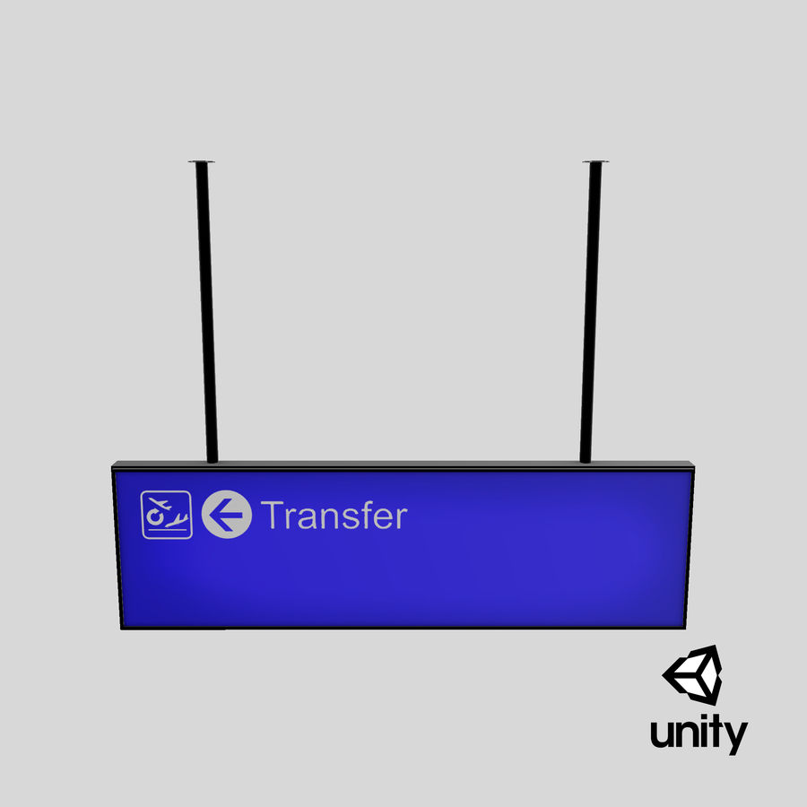 Luchthaven transfer teken royalty-free 3d model - Preview no. 17