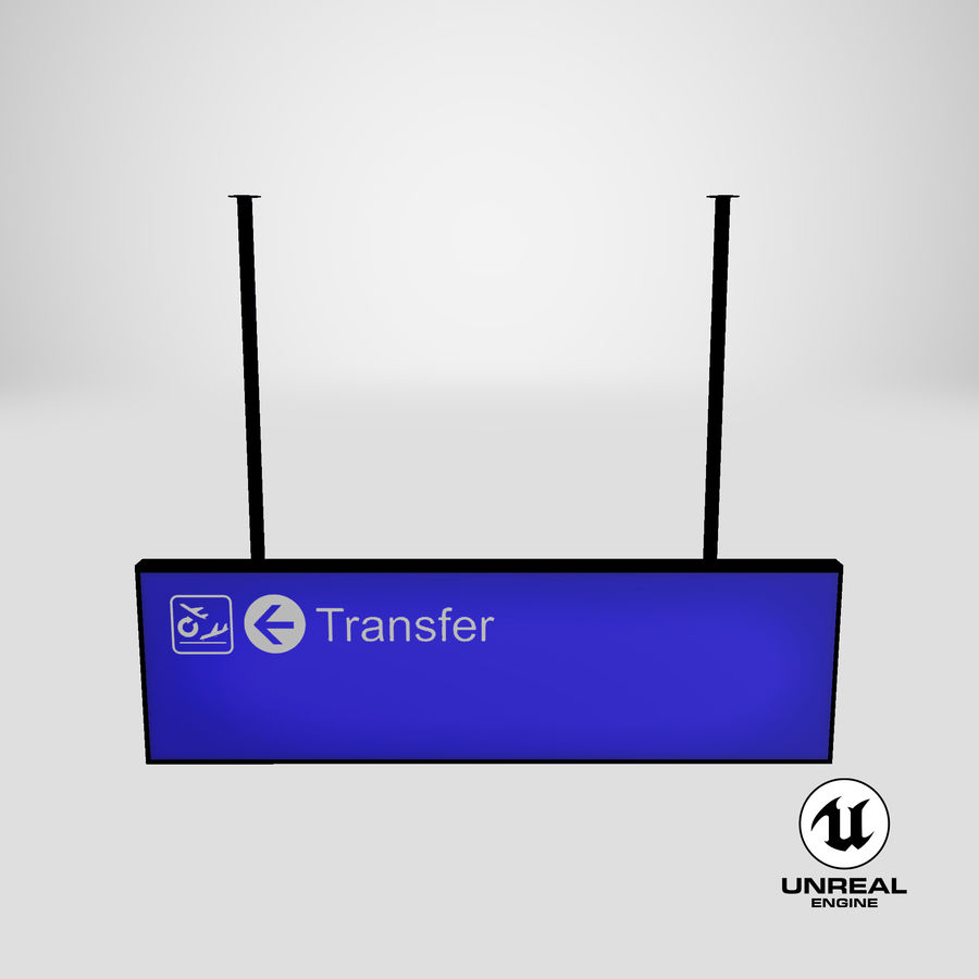 Luchthaven transfer teken royalty-free 3d model - Preview no. 16