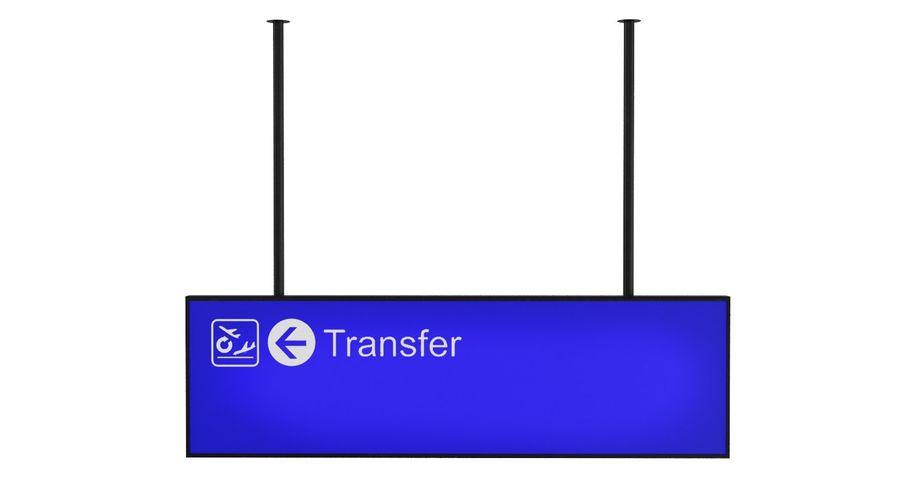 Luchthaven transfer teken royalty-free 3d model - Preview no. 3