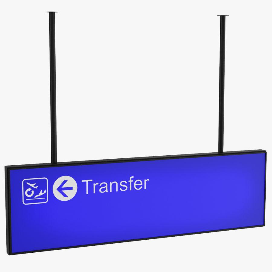 Luchthaven transfer teken royalty-free 3d model - Preview no. 1