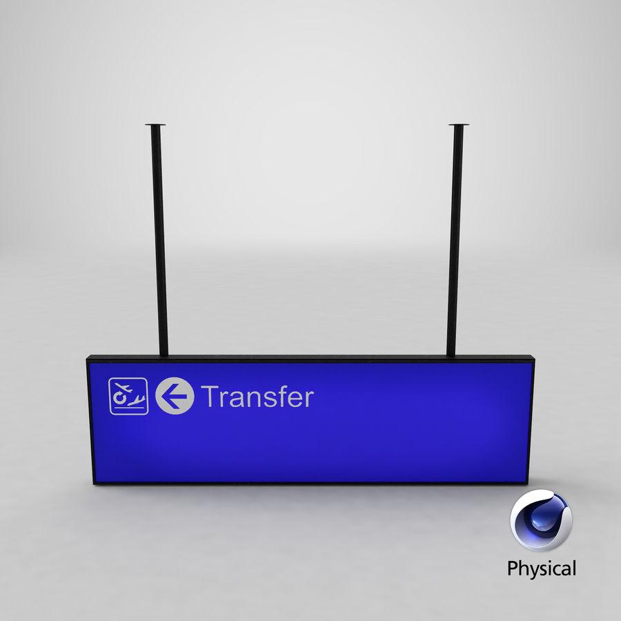 Luchthaven transfer teken royalty-free 3d model - Preview no. 15