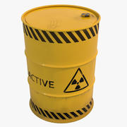 Nuclear Waste Barrel 3D Model 3d model