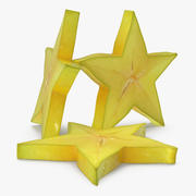Star Fruit Or Carambola Slice 3D Model 3d model