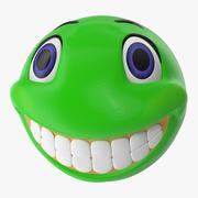 Grünes Lächelngesicht 3d model
