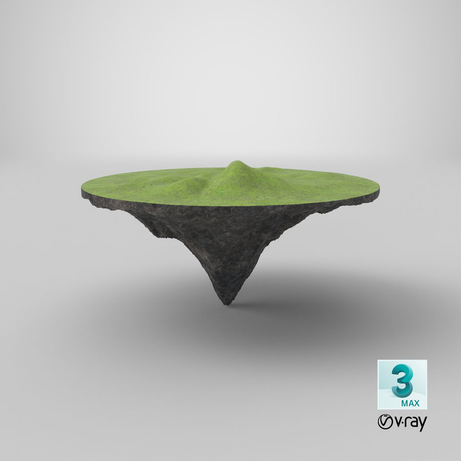 Floating Island royalty-free 3d model - Preview no. 9