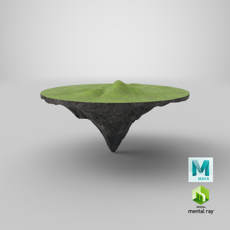 Floating Island royalty-free 3d model - Preview no. 8