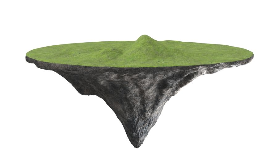 Floating Island royalty-free 3d model - Preview no. 2