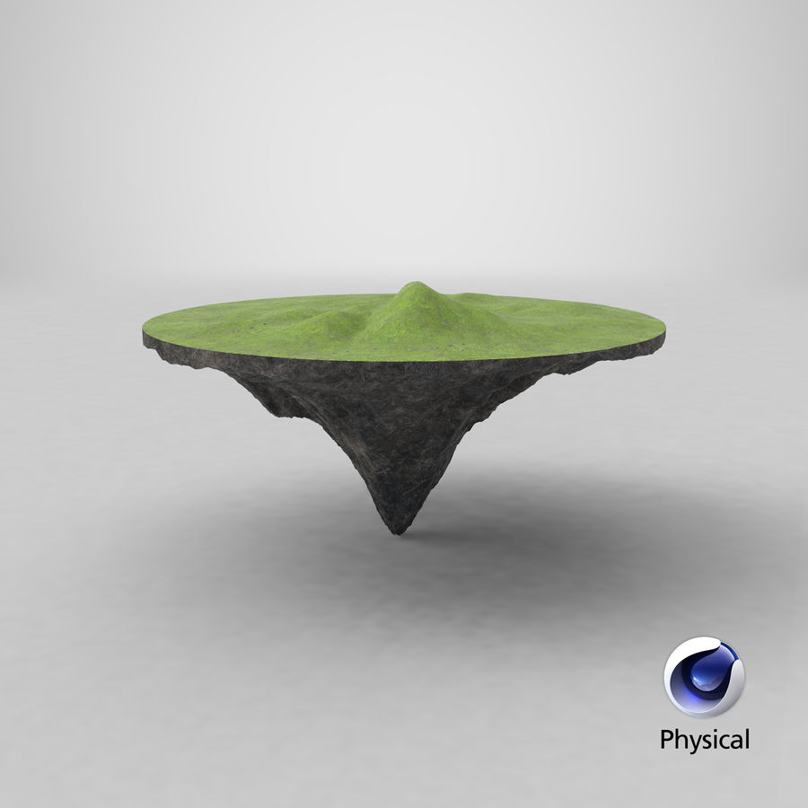 Floating Island royalty-free 3d model - Preview no. 11