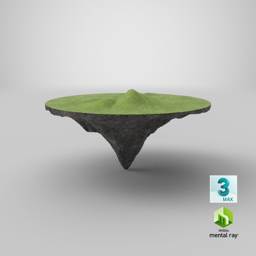 Floating Island royalty-free 3d model - Preview no. 10
