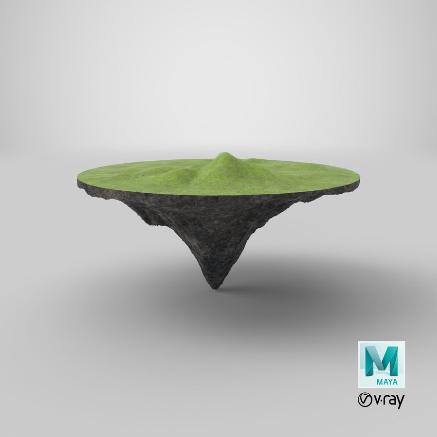 Floating Island royalty-free 3d model - Preview no. 7