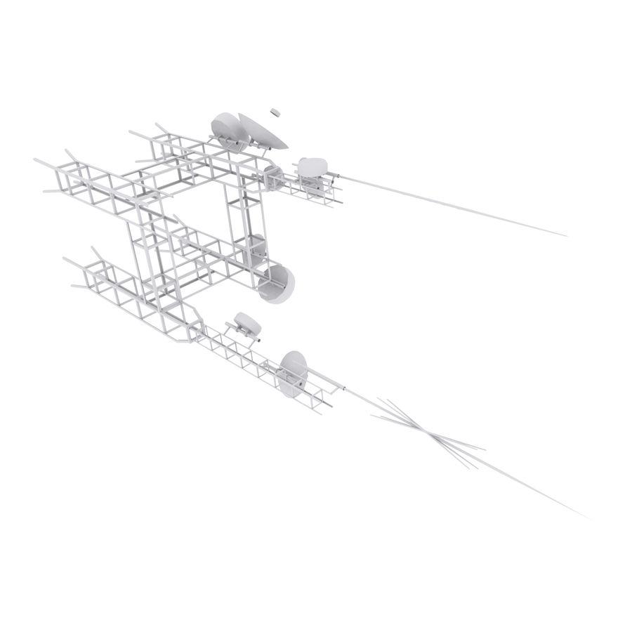 Torre de antena parabólica royalty-free modelo 3d - Preview no. 2