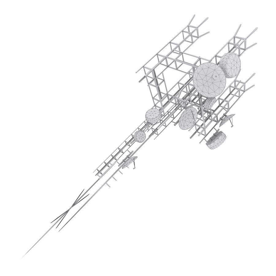 Torre de antena parabólica royalty-free modelo 3d - Preview no. 5