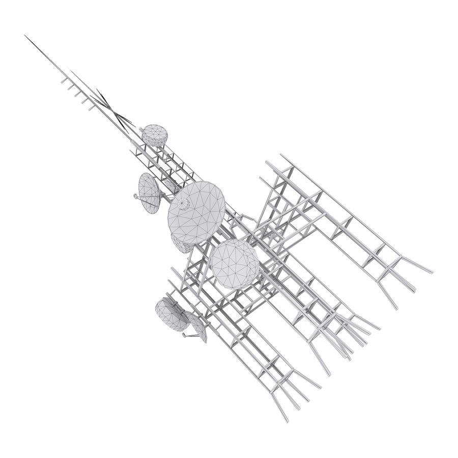 Torre de antena parabólica royalty-free modelo 3d - Preview no. 6