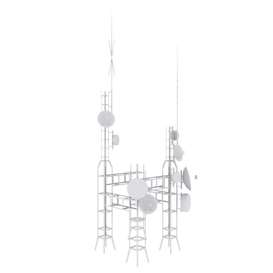 Torre de antena parabólica royalty-free modelo 3d - Preview no. 10