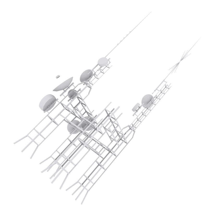 Torre de antena parabólica royalty-free modelo 3d - Preview no. 7
