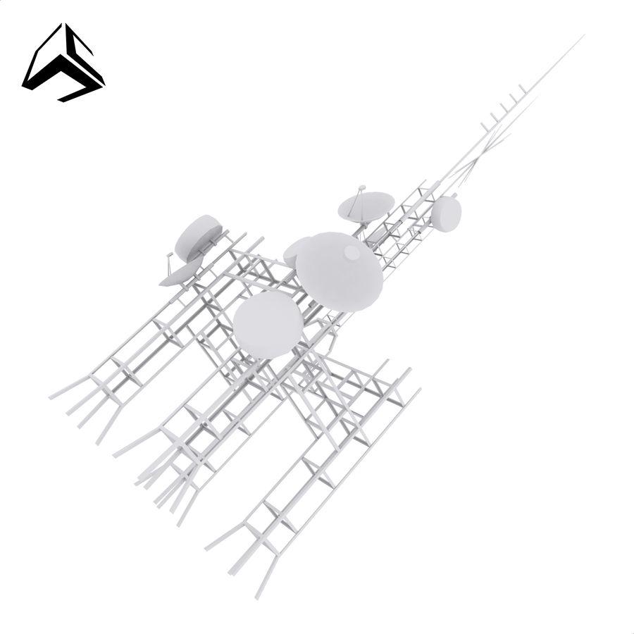 Torre de antena parabólica royalty-free modelo 3d - Preview no. 1