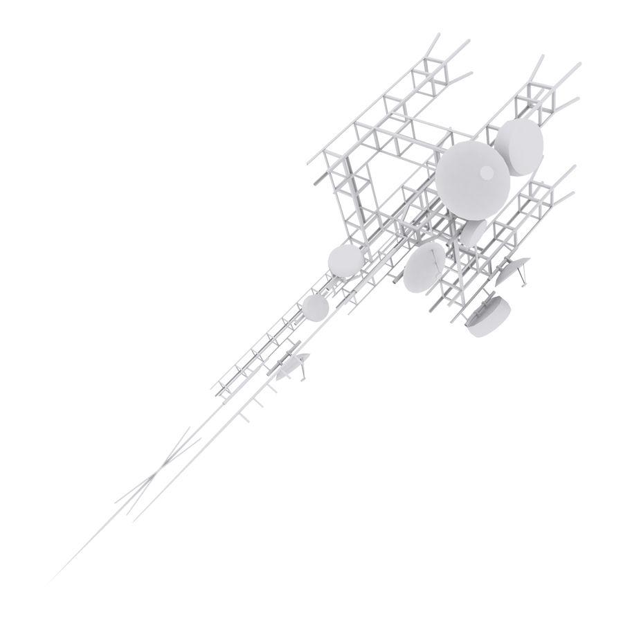 Torre de antena parabólica royalty-free modelo 3d - Preview no. 4