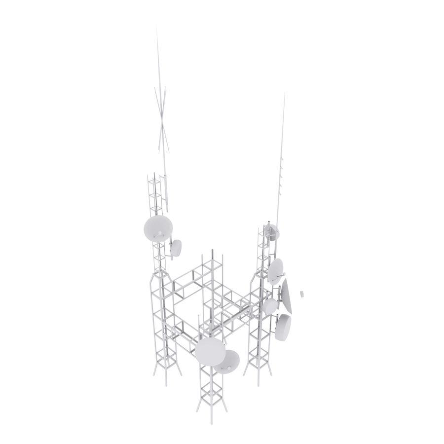 Torre de antena parabólica royalty-free modelo 3d - Preview no. 9