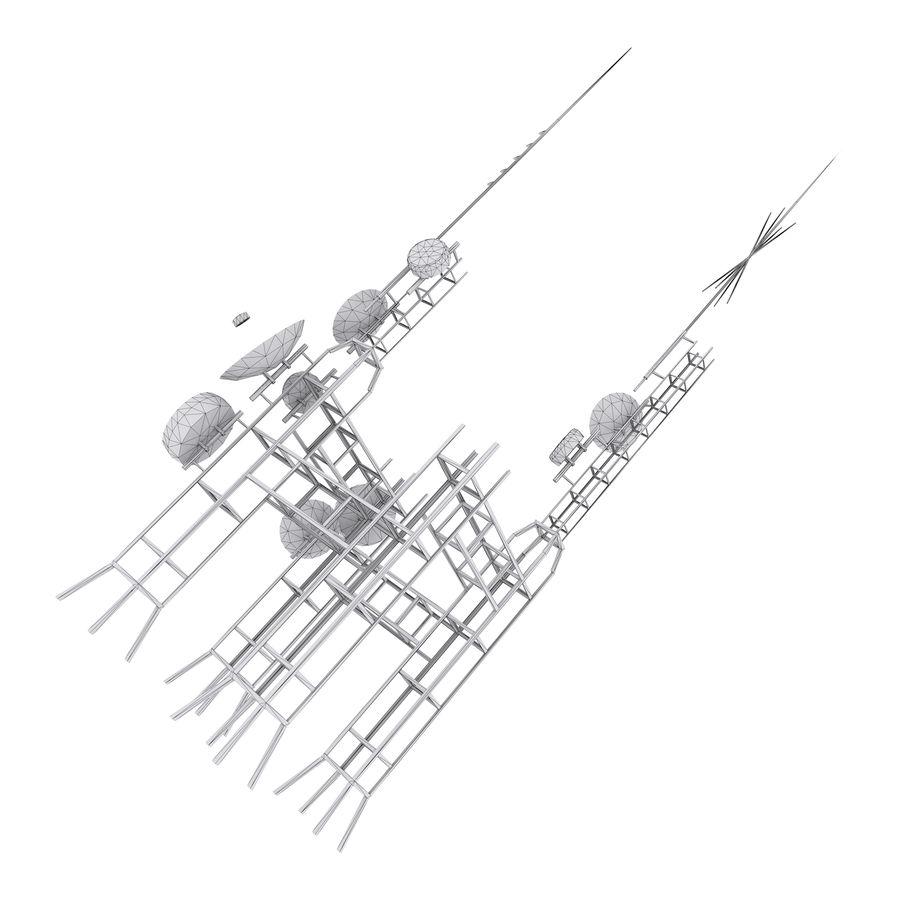 Torre de antena parabólica royalty-free modelo 3d - Preview no. 8