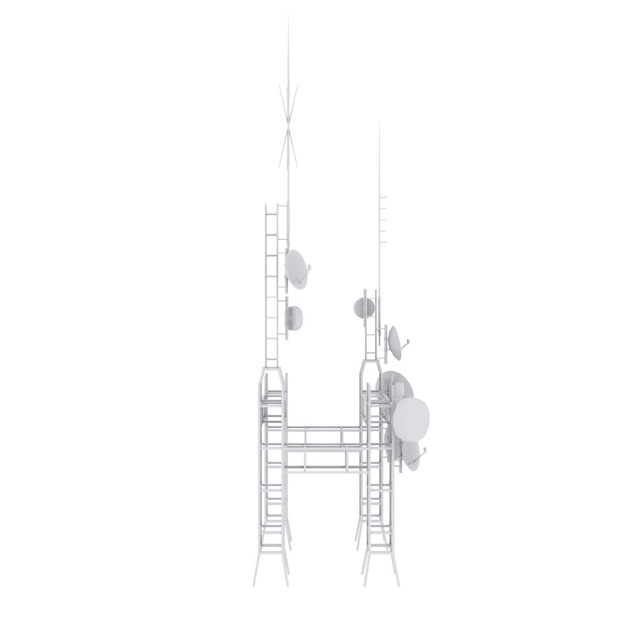 Torre de antena parabólica royalty-free modelo 3d - Preview no. 11
