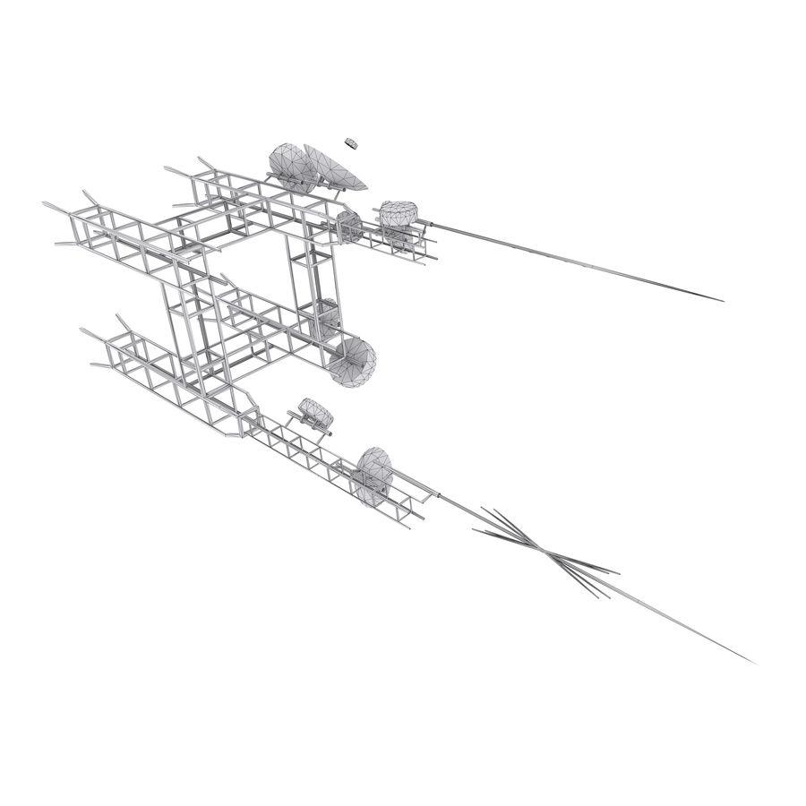 Torre de antena parabólica royalty-free modelo 3d - Preview no. 3