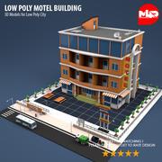 Low Poly Motel Building 3d model