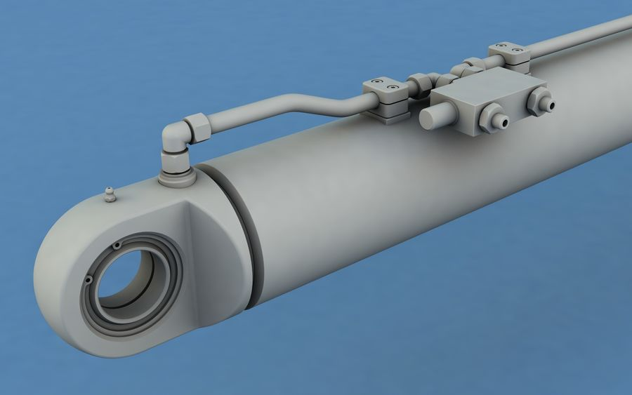 Cylinder hydrauliczny royalty-free 3d model - Preview no. 6