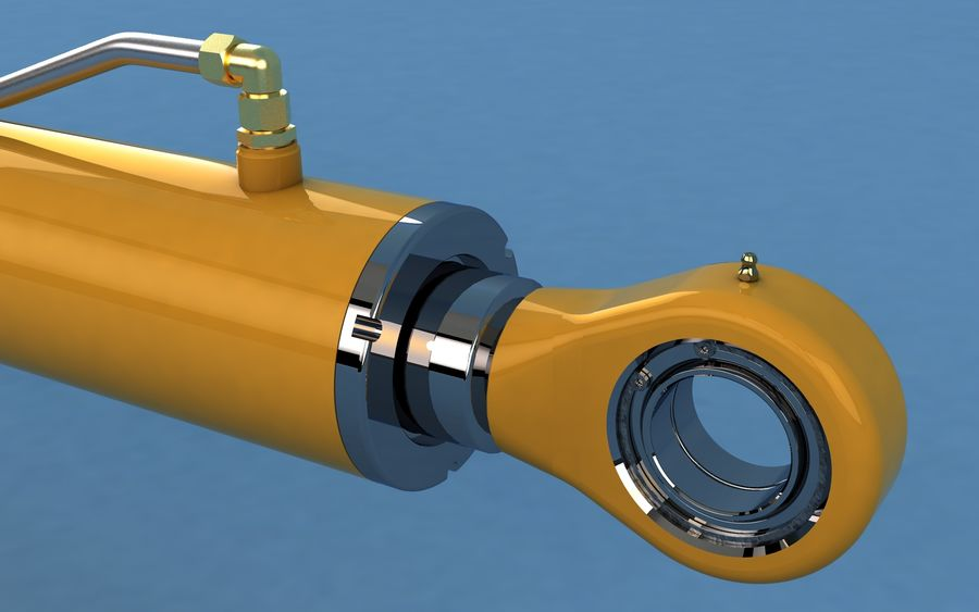 Cylinder hydrauliczny royalty-free 3d model - Preview no. 4