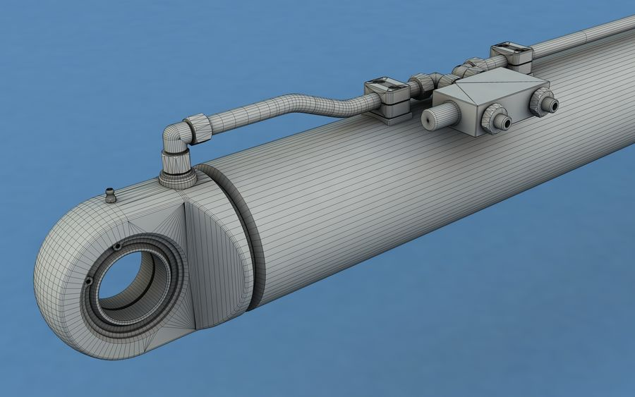 Cylinder hydrauliczny royalty-free 3d model - Preview no. 7