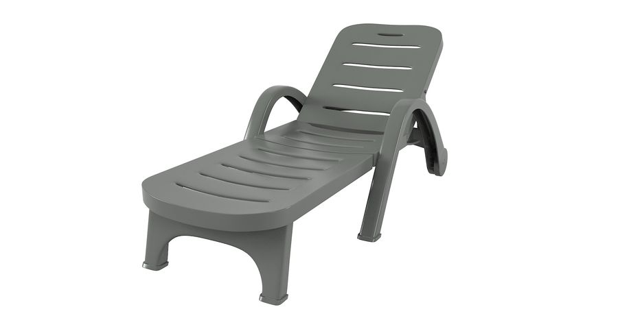 Plastic Sunlounger royalty-free 3d model - Preview no. 8