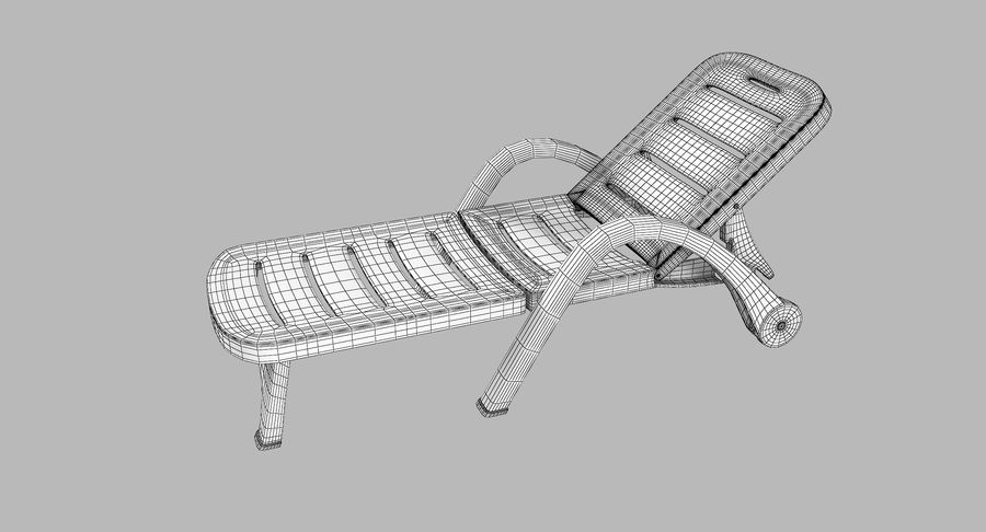 Plastic Sunlounger royalty-free 3d model - Preview no. 10