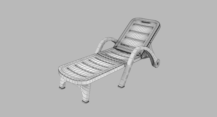 Plastic Sunlounger royalty-free 3d model - Preview no. 9