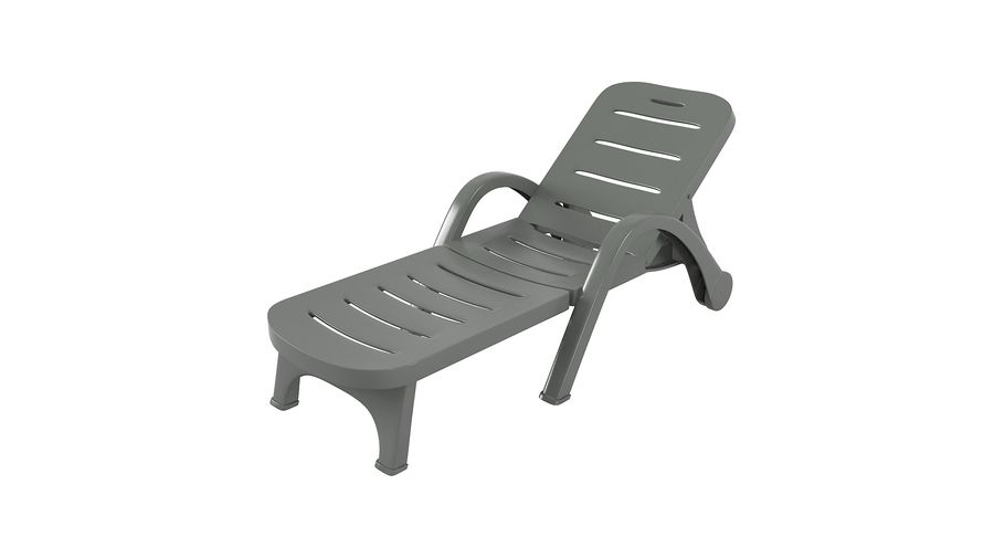 Plastic Sunlounger royalty-free 3d model - Preview no. 3