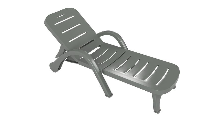 Plastic Sunlounger royalty-free 3d model - Preview no. 5