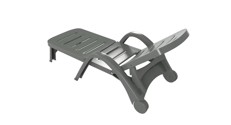 Plastic Sunlounger royalty-free 3d model - Preview no. 7