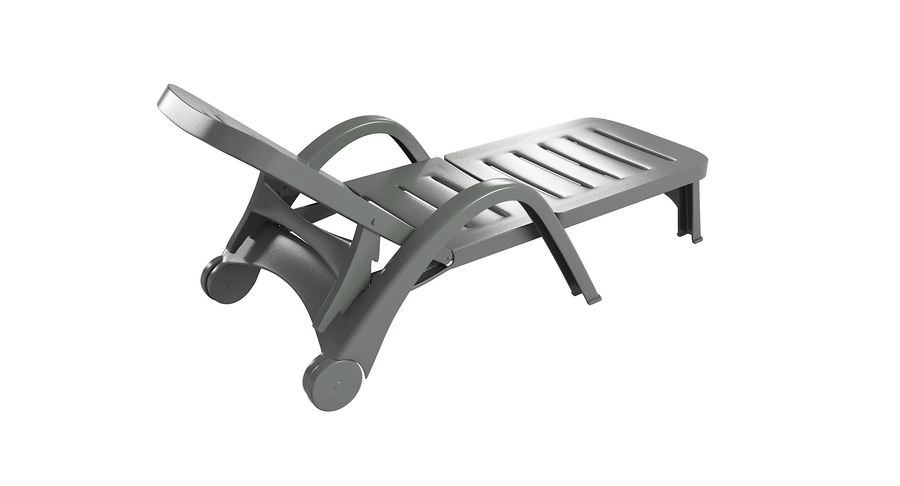 Plastic Sunlounger royalty-free 3d model - Preview no. 6