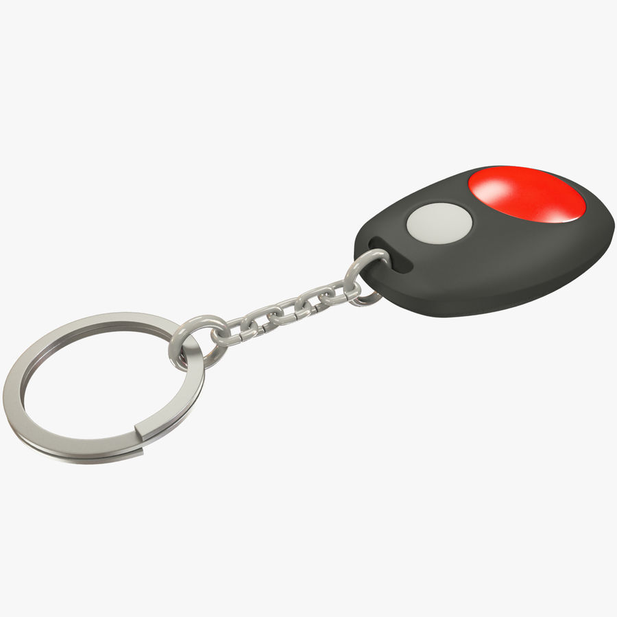 Car Keychain Alarm royalty-free 3d model - Preview no. 1