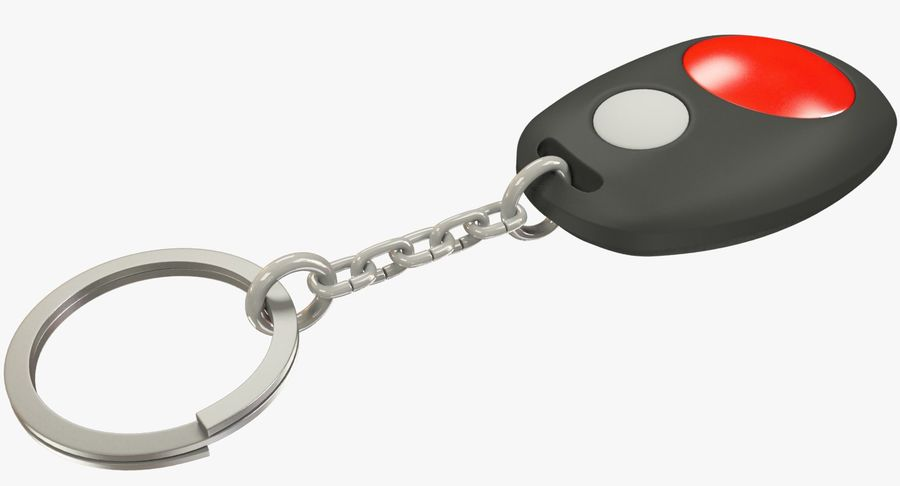 Car Keychain Alarm royalty-free 3d model - Preview no. 2