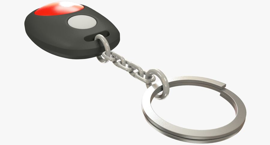Car Keychain Alarm royalty-free 3d model - Preview no. 8