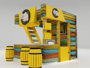 kiosk partition booth 3d model