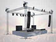 Konsert scen 3d model