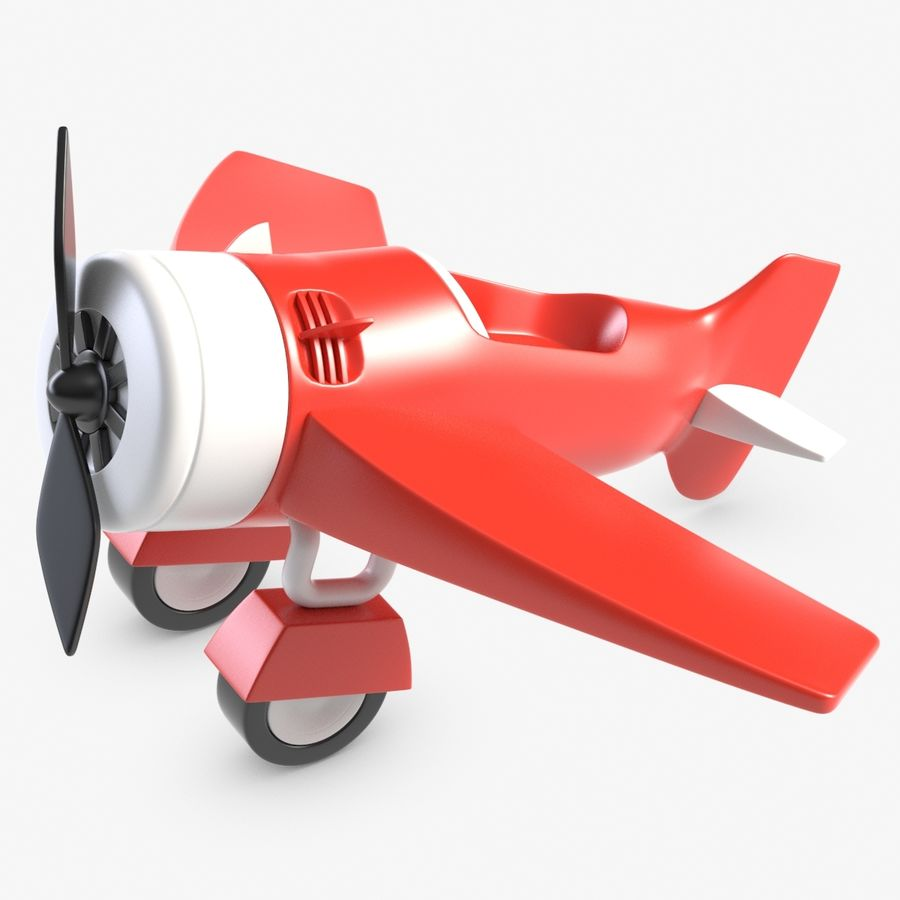 Toy Plane royalty-free 3d model - Preview no. 1