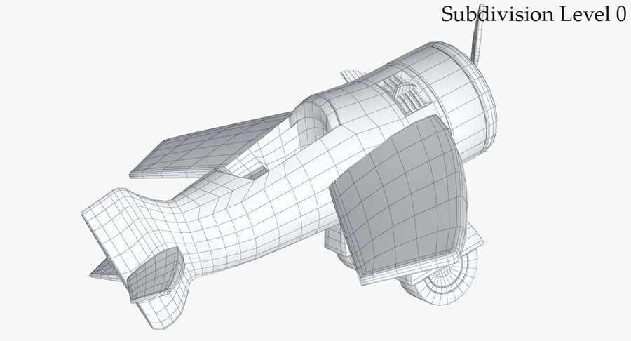 Toy Plane royalty-free 3d model - Preview no. 15